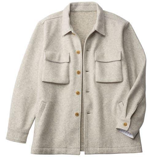 ストレッチ・軽量ウール混メルトン素材CPOシャツジャケット