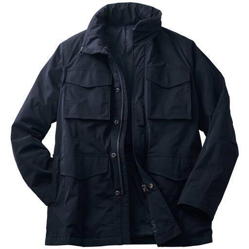 はっ水・ストレッチ素材の薄中綿フィールドジャケット