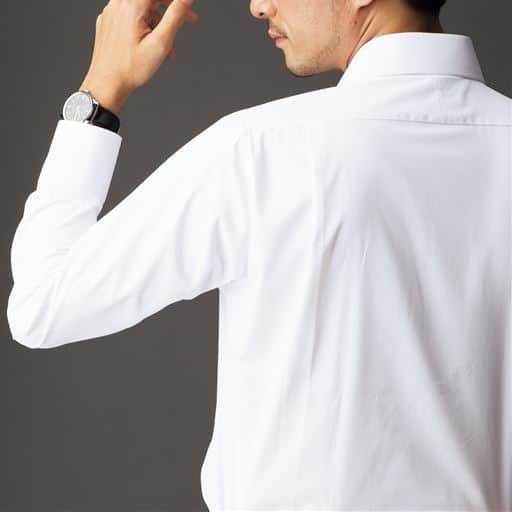 形態安定・抗菌防臭・防汚加工 メンズビジネス白Yシャツ(長袖)