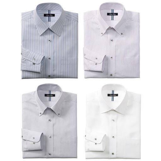 4デザインから選べる 形態安定デザインYシャツ(すっきりシルエット)