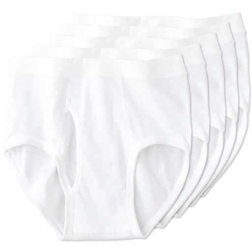 男の綿100%ブリーフ(5枚組・前開き)