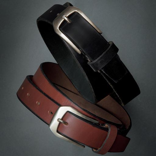 安心の日本製・1枚革の本革ベルト
