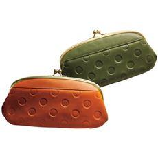 牛革水玉がま口財布(日本製)