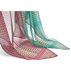 シルクグラデーションスカーフ(スカーフリング付き)(日本製・シルク100%)