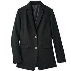 【ぽっちゃりさんサイズ】ウールライクテーラードジャケット(イージーケア)(洗濯機OK)