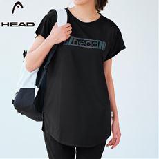 【ぽっちゃりさんサイズ】ロング丈ロゴTシャツ(HEAD)(UVカット・吸汗速乾)