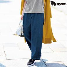 【ぽっちゃりさんサイズ】Moz タックワイドテーパードジーンズ