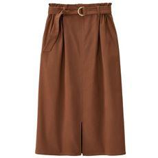 【ぽっちゃりさんサイズ】ハイパーストレッチスカート(ベルト付き)