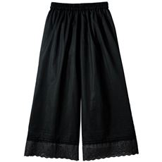 【ぽっちゃりさんサイズ】裾刺しゅうペチパンツ(綿100%)