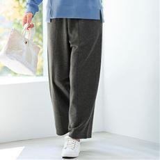 【ぽっちゃりさんサイズ】カットソー裏毛ワイドパンツ
