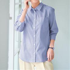 【ぽっちゃりさんサイズ】形態安定レギュラーカラーシャツ(7分袖)(UVカット・抗菌防臭) グラマーさん用サイズ有(胸サイズで選ぶ