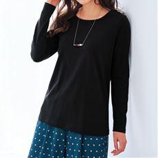 【ぽっちゃりさんサイズ】シンプルTシャツ(長袖・綿100%・L~10L)