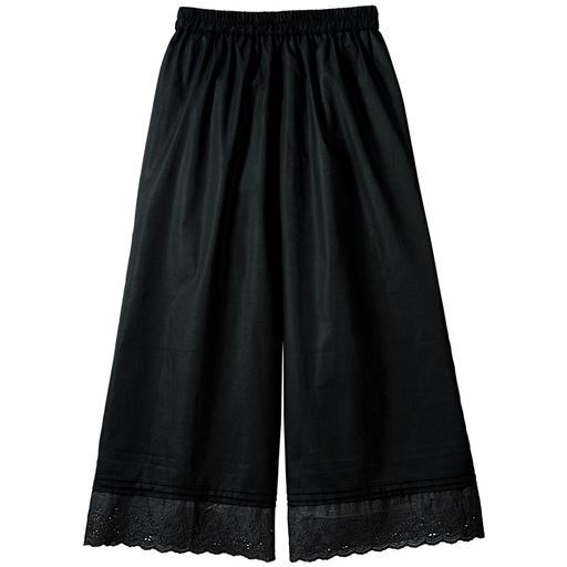 裾刺しゅうペチパンツ(綿100%)【ぽっちゃりさんサイズ】