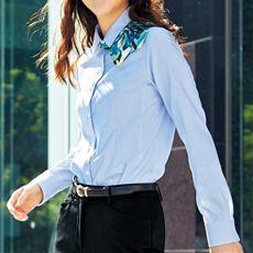 レギュラーカラーシャツ(長袖)(抗菌防臭・UVカット・形態安定・洗濯機OK)