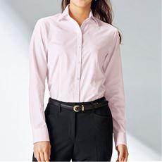 形態安定ベルカラーシャツ(長袖)(抗菌防臭・UVカット・洗濯機OK)