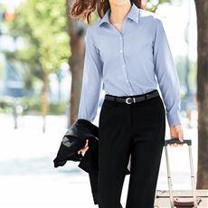 出張コンパクト形態安定シャツ(長袖) 収納袋付き