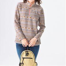 フリースハーフジップTシャツ(kaepa)(UVカット)