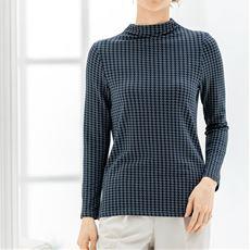 スマートヒートボトルネックTシャツ(静電気防止・吸湿発熱・吸汗速乾)