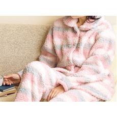ぼあもこ(R)ふんわりパジャマ(あったか可愛い)(ボーダー柄・前開きタイプ)