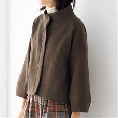 ウール混バルーンスリーブジャケット