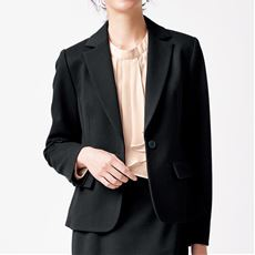あったか裏地ジャケット(事務服・洗濯機OK・選べる2丈)/テーラードジャケット