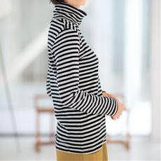 裏起毛ルーズネックTシャツ(綿100%)