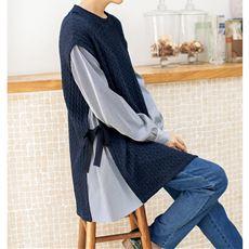 ベストシャツ フェイクレイヤードチュニック(洗濯機OK)