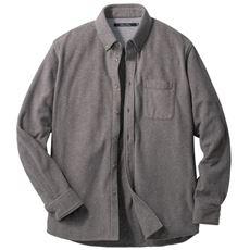 サステナブルなPET再生糸使用フリース素材のボタンダウンシャツ