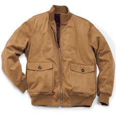 撥水・ストレッチ・フェイクスウェード素材の薄中綿バルスタージャケット