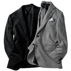 ニット素材でらくらくなのに、きちんと見えするメンズテーラードジャケット