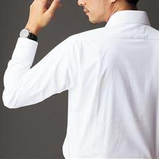形態安定メンズビジネス白Yシャツ(長袖)/抗菌防臭・防汚加工