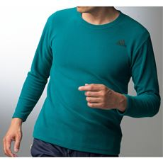 フリース長袖Tシャツ(adidas)