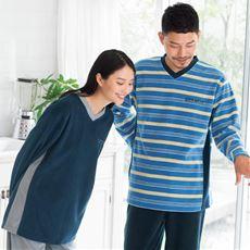 フリースだから軽くてあったか・毎年人気のシンプルTタイプパジャマ(男女兼用)Vネック