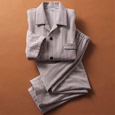 日本製 綿100%あったか綿毛布 紳士シャツパジャマ