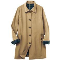 裏フリースボンディング ステンカラーコート(手洗いOK・撥水)