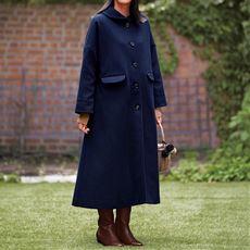 【ぽっちゃりさんサイズ】着込めるコート