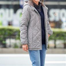 【ぽっちゃりさんサイズ】中綿キルティングジャケット