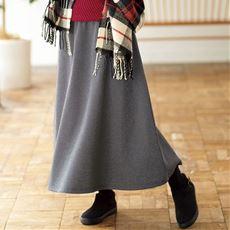 【ぽっちゃりさんサイズ】裏起毛Aラインスカート