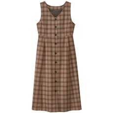 【ぽっちゃりさんサイズ】チェックジャンパースカート