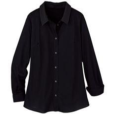 【ぽっちゃりさんサイズ】カットソーシャツ(長袖)(UVカット・抗菌防臭・吸汗速乾) グラマー用サイズ有(胸のサイズで選べる)