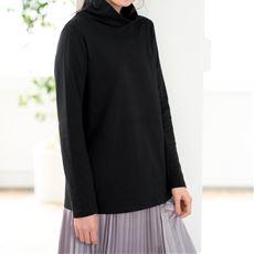 【ぽっちゃりさんサイズ】接結(2枚仕立)天竺オフタートルTシャツ(L~10L)