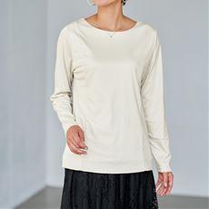 【ぽっちゃりさんサイズ】2枚仕立てクルーネックTシャツ(長袖)