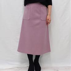 ウール調Aラインスカート