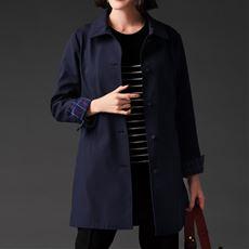 【ぽっちゃりさんサイズ】裏フリースボンディングコート(手洗いOK・静電防止・はっ水加工)