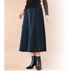 <ナノヒーティング>8枚はぎのあったかデニム調スカート
