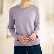 あったかシンプルTシャツ(綿100%・蓄熱保温・吸湿発熱・洗濯機OK)