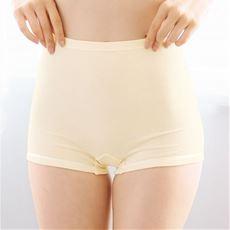 肌あたり優しい綿100%接結インナー1分丈(マチ付き)