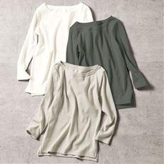 冬まで着られるあったかシンプルTシャツ