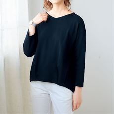 部屋干し対応今どきTシャツ8分袖(綿100%)