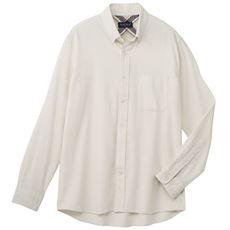 綿100%ソフトフランネルシャツ(ボタンダウン仕様)